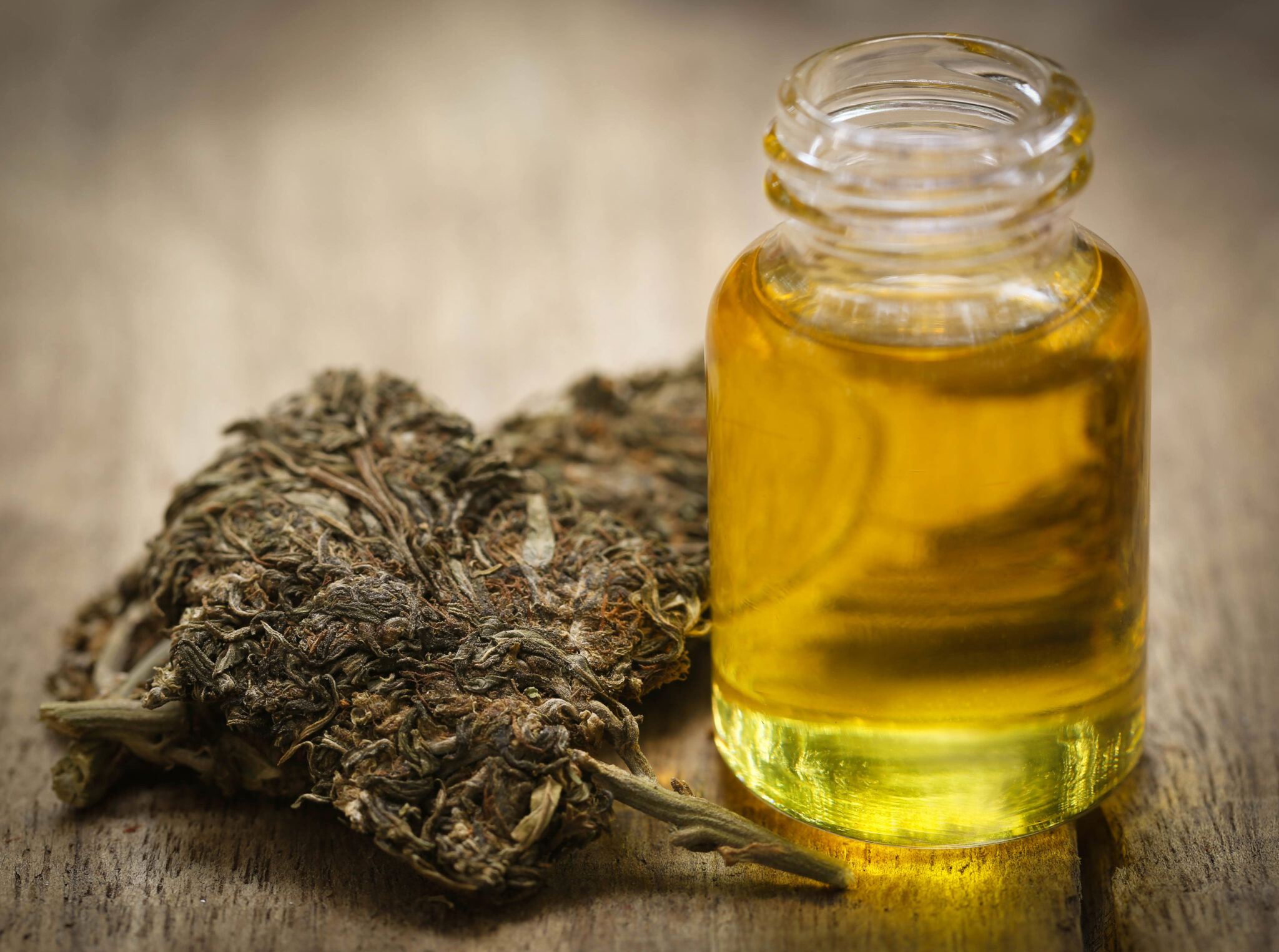 Medicinal cannabis with extract oil